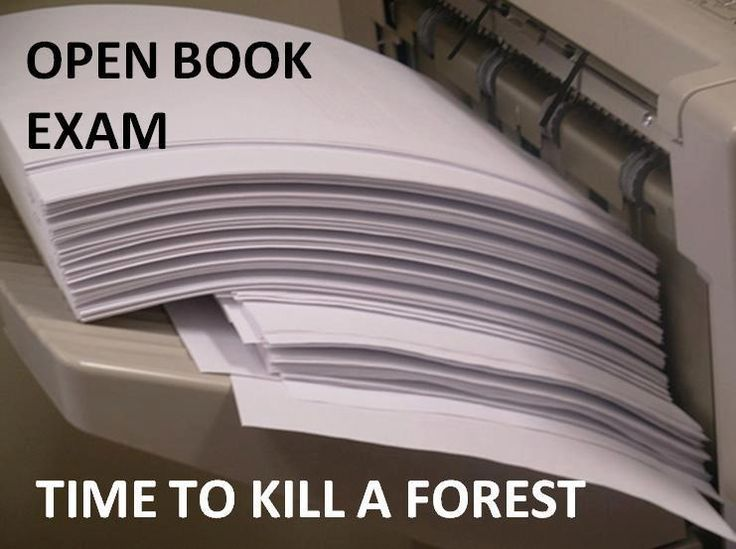 Law exams, thank god for open book