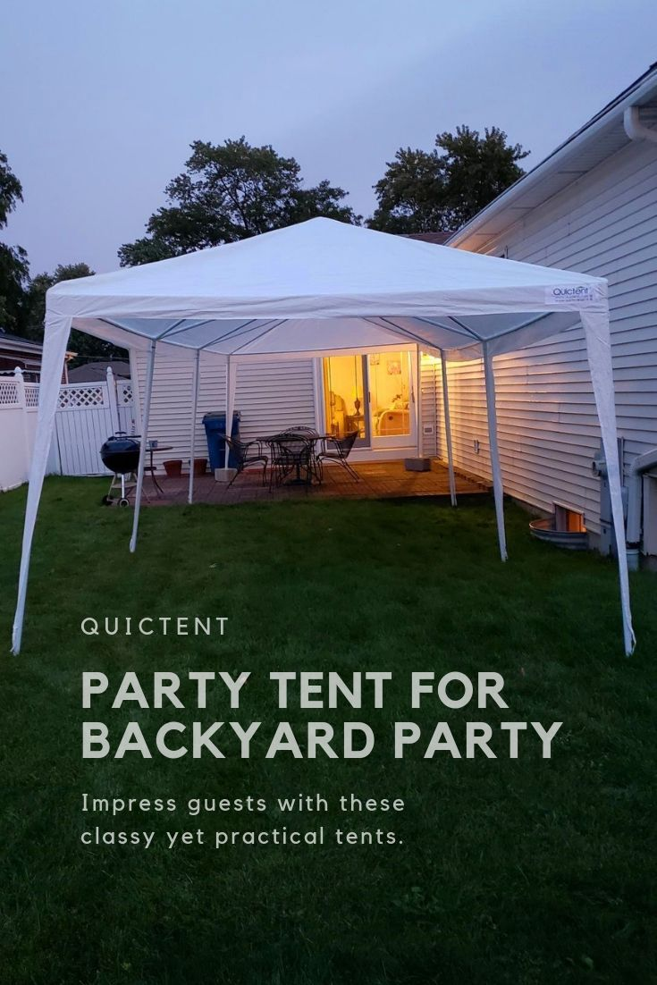 Impressing Your Guests With These Classy Yet Practical Tents Quictent 10x20 10x30 White Partytent Party Tent Party Tents For Sale Backyard Party