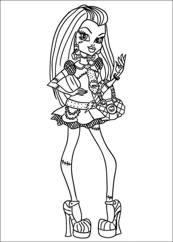 Monster High Ausmalbilder. Malvorlagen Zeichnung druckbare