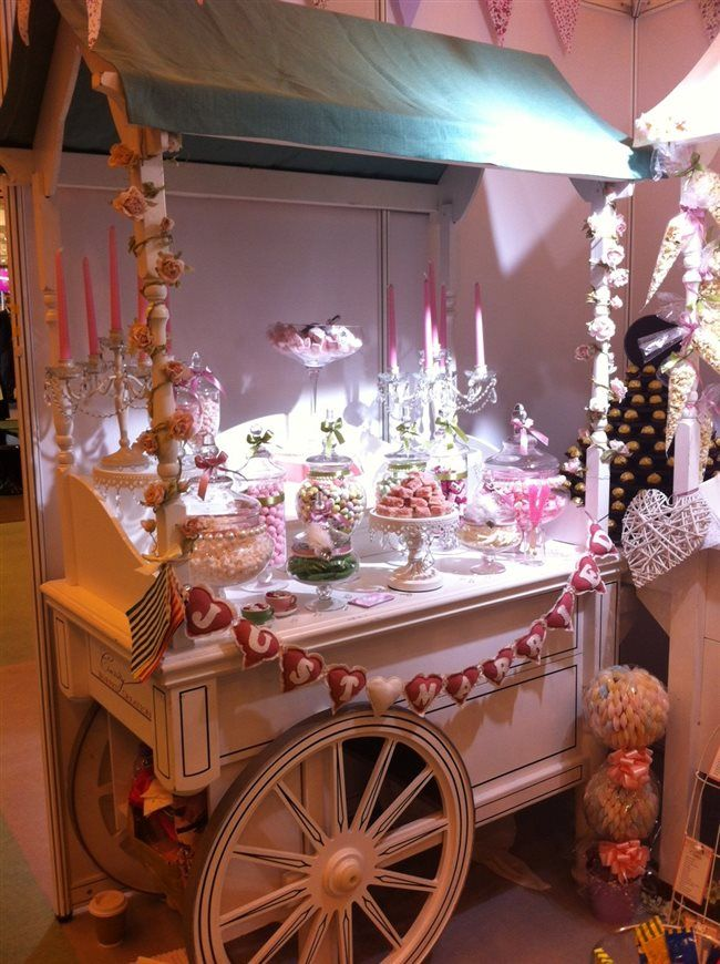 Blogging LIVE from The National Wedding Show in London - gorgeous candy buffet cart #nationalweddingshow
