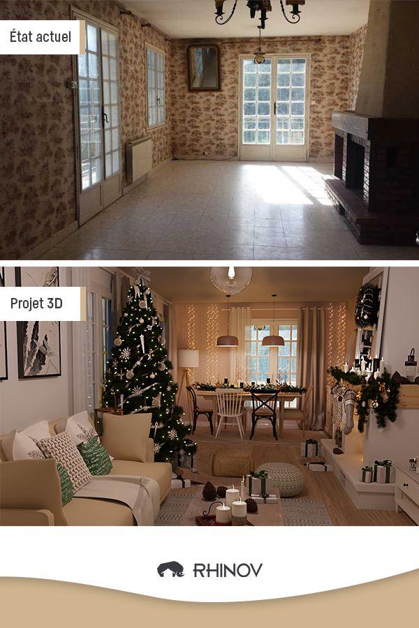Avant / Après - Décoration de Noël   Maison à vendre m6, Décoration intérieure, Rhinov