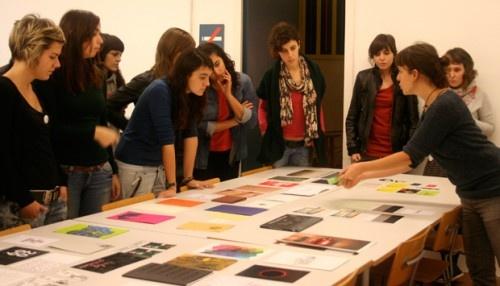 Clase de Artes Gráficas en el Postgrado de Diseño de Elementos Gráficos en Eina, Bcn / Classe d'Arts Gràfiques al Postgrau de Disseny d'Elements Gràfics a Eina, Bcn