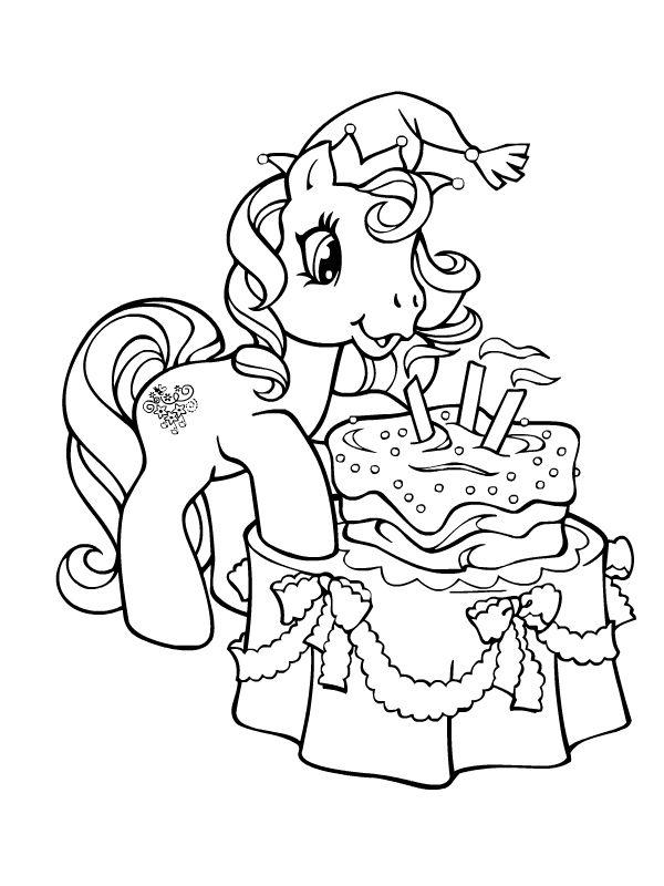 petit poney souflant ses bougies
