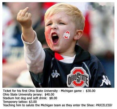 Ohio State Buckeye Fan Priceless  http://www.bigtenfootballschedule.com/ohio_state_football_schedule.html