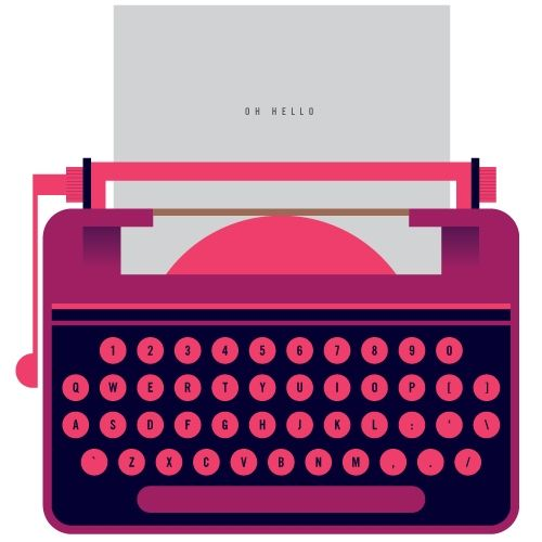 typewriter... I really want one for some reason. It would be so cool! Esp one that's purple & pink!