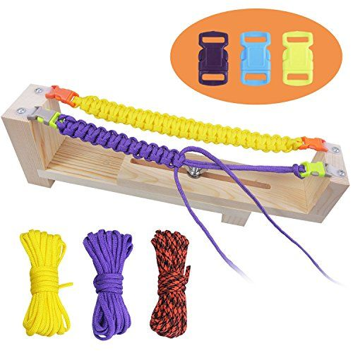 Jig Bracelet Maker W Parachute Cord, iRainy Wristband Maker Paracord Braiding Weaving DIY Craft Tool Kit -- Be sure to check out this awesome product.