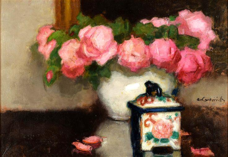 """Karpiński Alfons (1875-1961) """"Róże"""""""