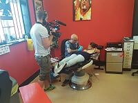 Being filmed for tv channel 5 tattoo show