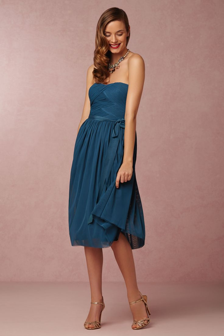 Cordelia Bridesmaids Dress in lapis blue from @BHLDN