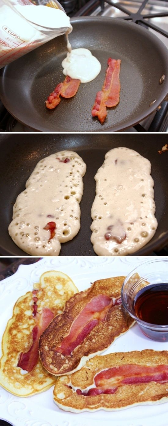 Pancake Wrapped Bacon Dippers YES