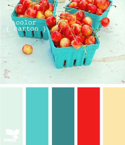 been in love with turquoise and red together for years!