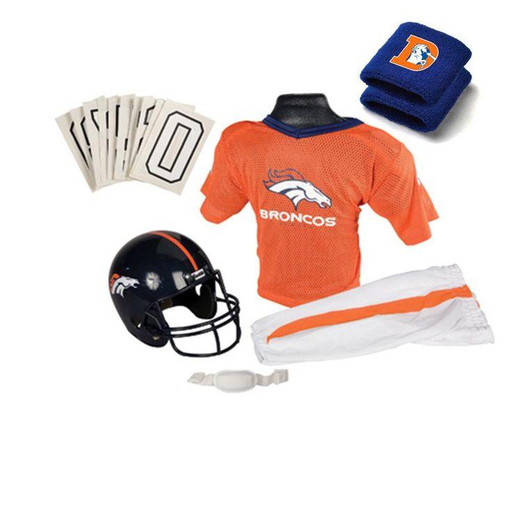 Denver Broncos Youth Nfl Supreme Helmet And Uniform Set (small)