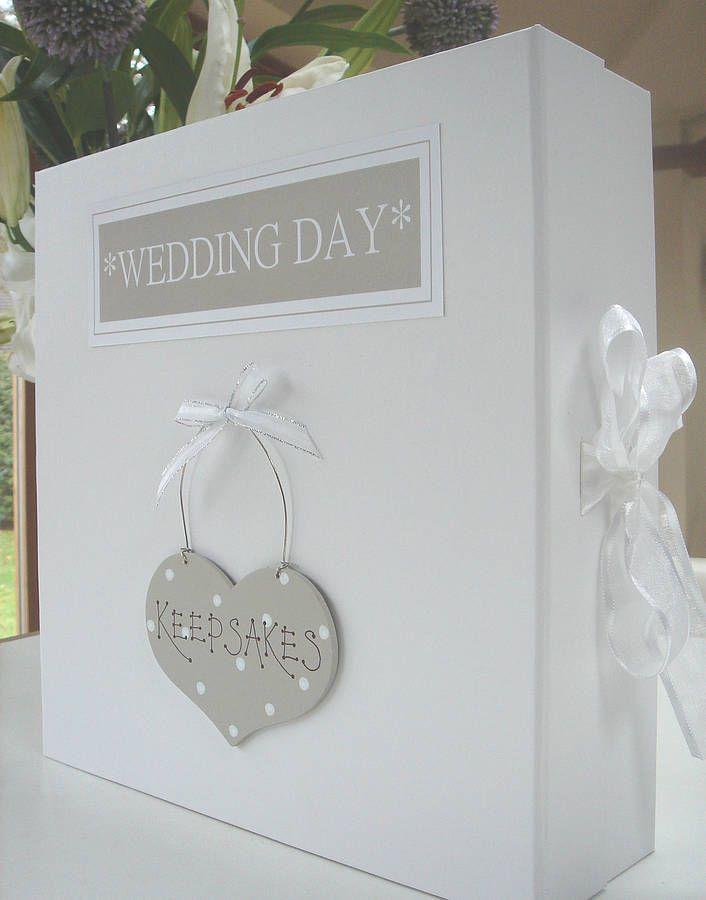 wedding keepsake or memory box by little bird designs   notonthehighstreet.com