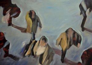 Inge Dompas    Inge Dompas      titel: Crossing over  materiaal: olieverf op doek  afmetingen: 120 cm x 90 cm