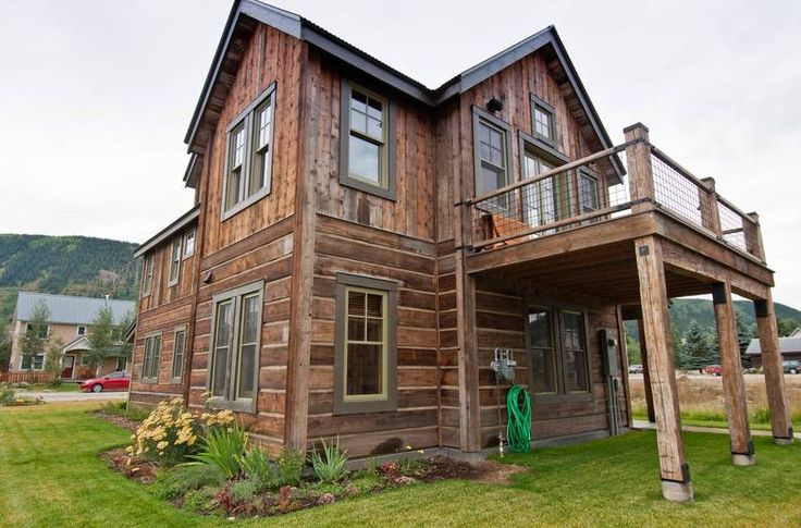 55 best reclaimed and rustic wood projects images on for Cabins near crested butte co