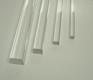 Crystal Clear Square Extruded Acrylic Rod