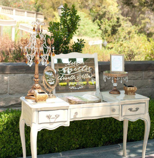 Wedding Ideas: 19 Fabulous Ways to Use Mirrors - Jana Williams via Green Wedding Shoes