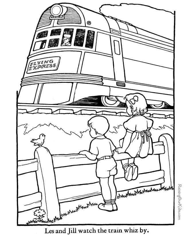 these free printable train coloring pages are fun for kids