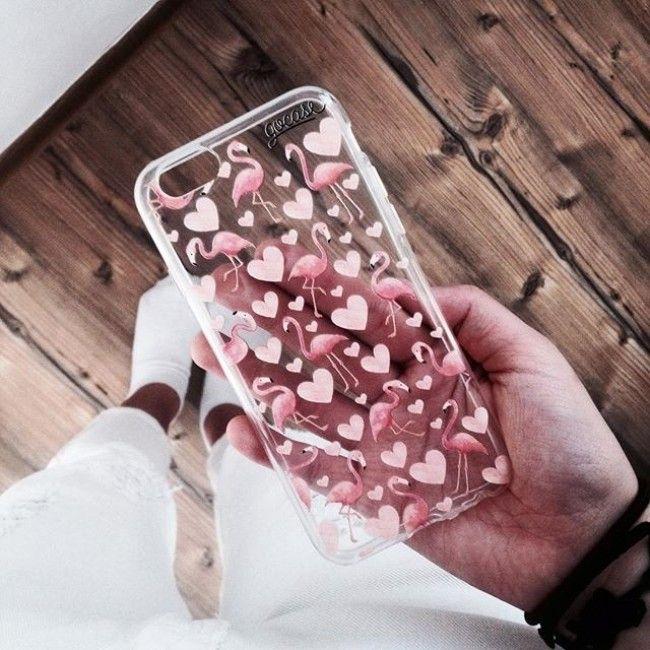 Capinha para celular Flamingos