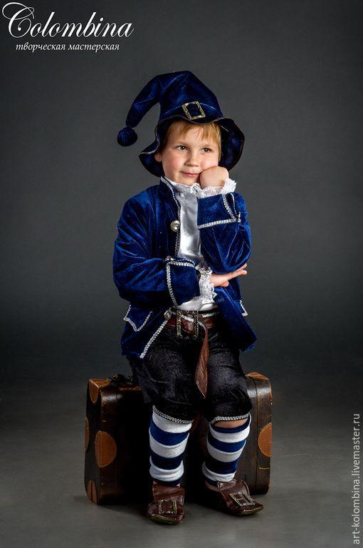 Купить костюм гнома - темно-синий, гном, гномик, костюм гнома, костюм гномика, атлас
