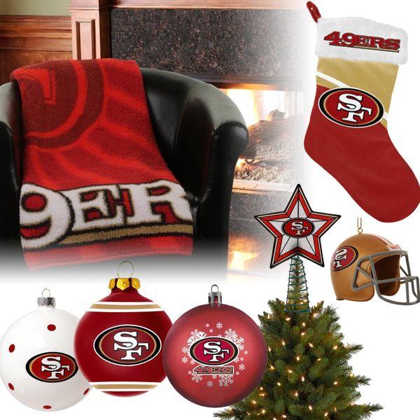 San Francisco 49ers Christmas Ornaments, Stocking, Tree Topper, Blanket