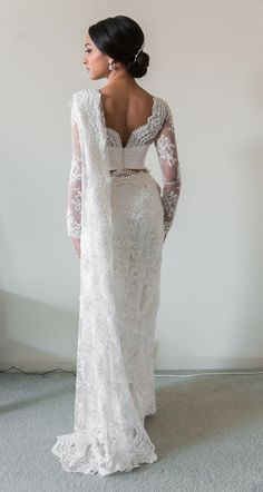 White Bridal Lace Saree   South Asian Wedding Blog   Think Shaadi - if I ever renew my vows... I want this!