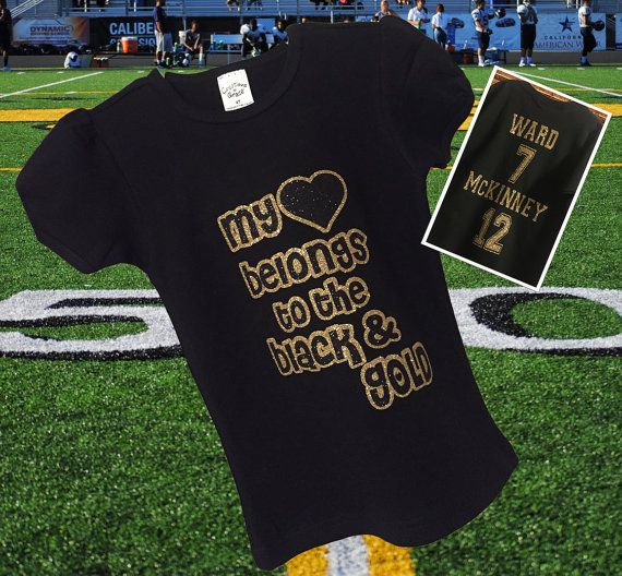 Custom Football Shirt Kids Personalized by MadKaySonCreations