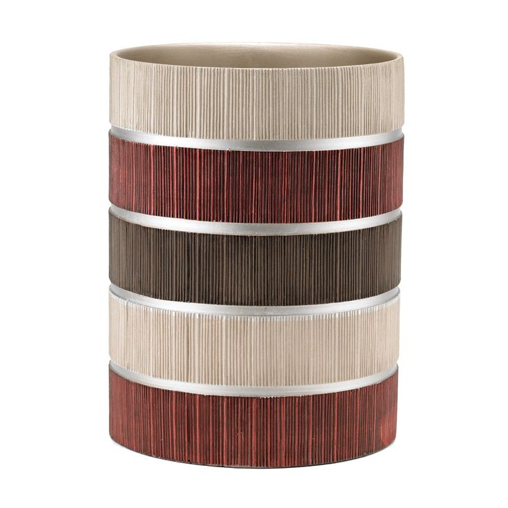 Aaronsburg Traditional Chic Striped Heavy Resin Waste Basket