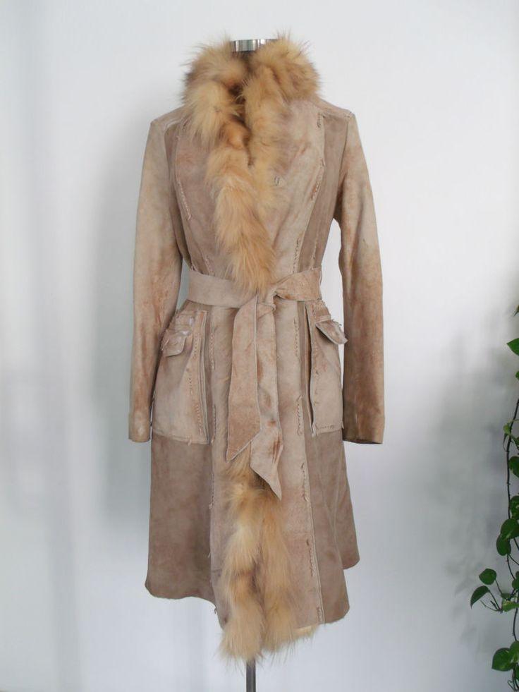 Montone cappotto Shearling BENEDETTA NOVI  Made in Italy tg 42/44 da €1000