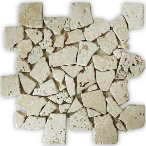 Travertino Beż mozaika_łazienkowa_mosaic_athena_czarna_biała_kamienna_mosaico_warszawa