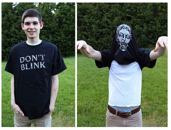 """21 Pieces Of """"Doctor Who"""" Swag You Didn't Know You Needed Weeping angels tee"""