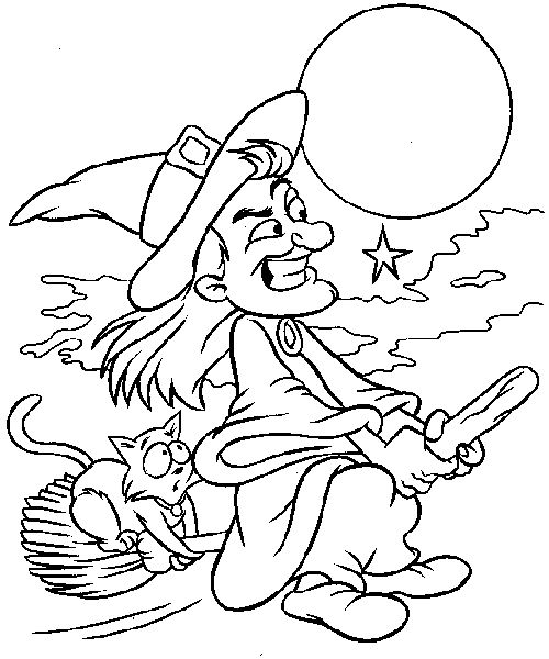 Halloween Coloring Page - Print Halloween pictures to color at AllKidsNetwork.com