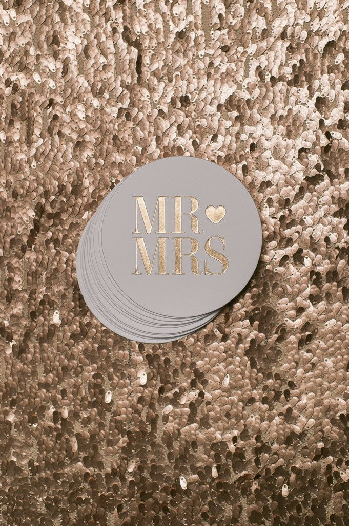 Round Foil Coasters, coasters for wedding, cocktail party, engagement party, bridal shower, party supplies