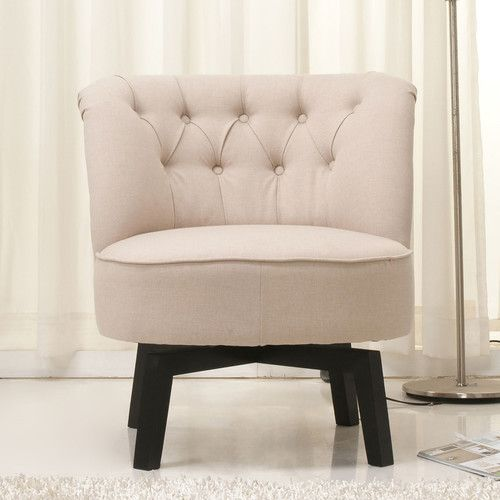 Brika Home Fabric Swivel Chair In Beige Find This Pin And More