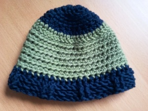 crochet and knitted hat for baby boy