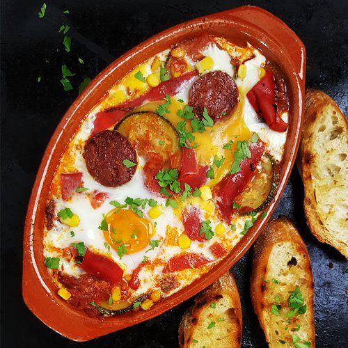 Spaanse flamenco eieren (Huevos a la Flamenca) - Powered by @ultimaterecipe
