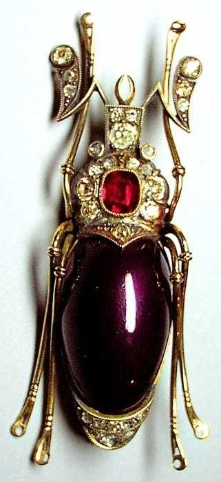 Faberg. Beetle Brooch. Gold, silver, diamonds, a ruby, enamel. 1908 – 1917. St. Petersburg, #Russia.