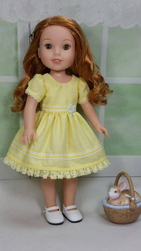 Wellie Wisher 3 Pc. Wardrobe Yellow Basic by DollClothesbyShirley