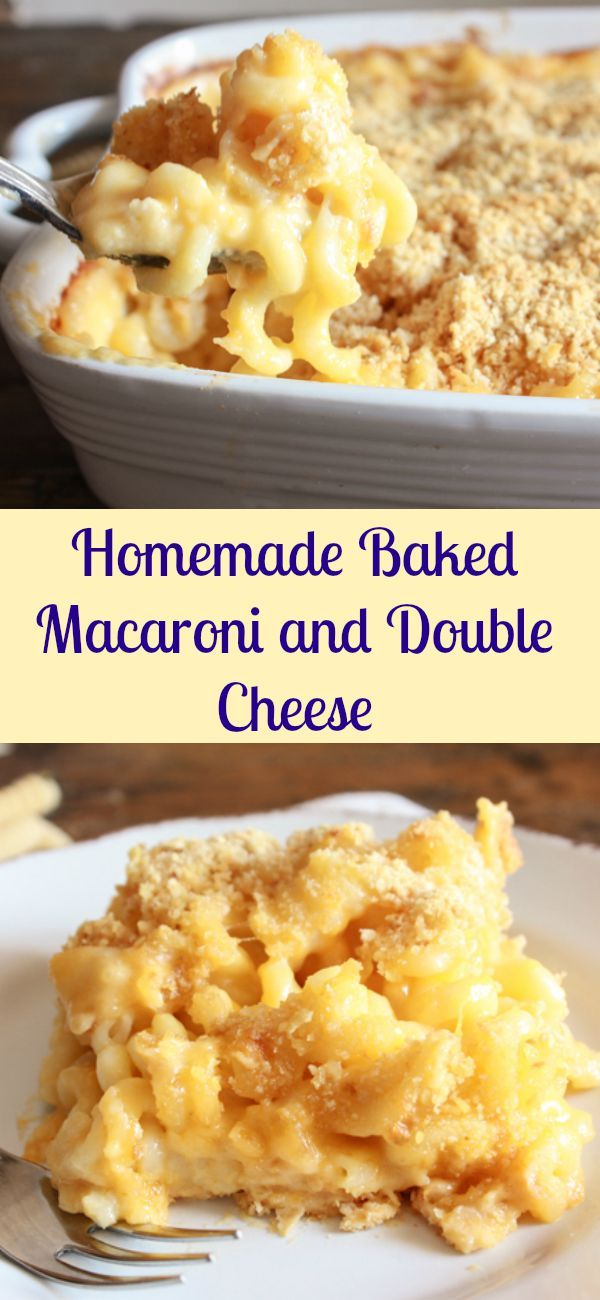Homemade Baked Macaroni and Double Cheese, a delicious macaroni and ...