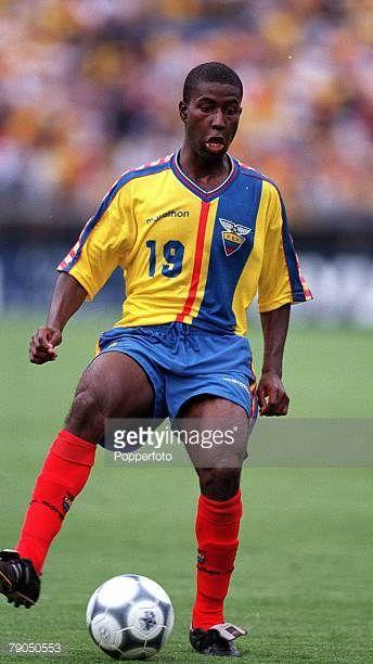 Football 2002 World Cup Qualifier South American CONMEBOL Group 24th April 2001 Quito Ecuador 2 v Paraguay 1 Ecuador's Edison Mendez