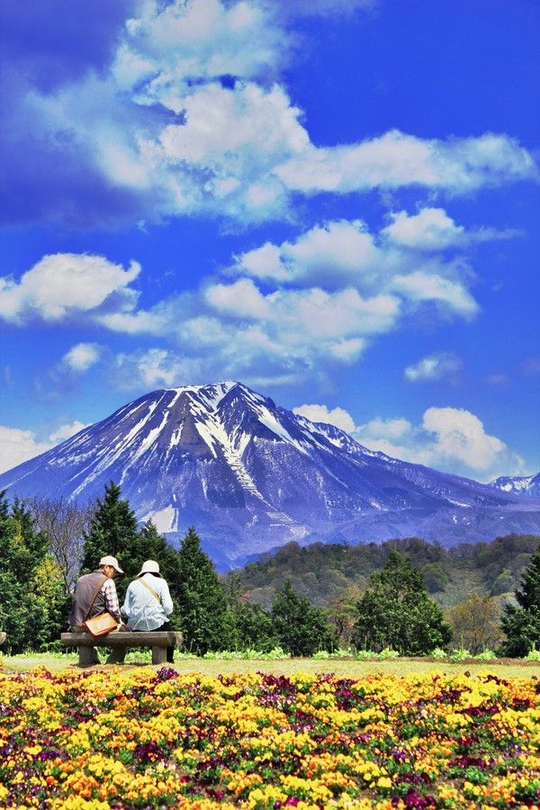 Who loves mountains & flowers in the summertime? Mt.Daisen, Tottori, Japan