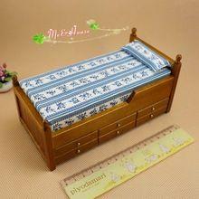 1/12 Escala Casa De Bonecas Em Miniatura Modelo de Cama Gaveta 2 Camadas Boneca mobília do Quarto Cama de Móveis casa de Bonecas Bonecas & Miniaturas Escala 1:12(China (Mainland))
