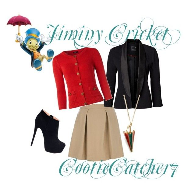 """Jiminy Cricket Casual"" by cootiecatcher7 ❤ liked on Polyvore featuring 3.1 Phillip Lim, Hobbs, Disney, And Mary, women's clothing, women, female, woman, misses and juniors"