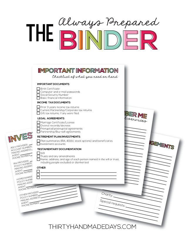 Printables Budget Free Family Binder