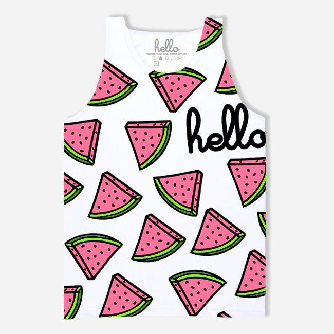 Watermelon Party! (Kids & Babies) White Tank Top