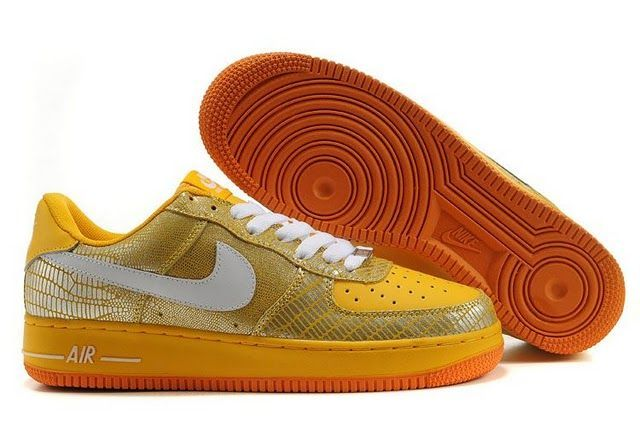 Air Force 1 Gold X Yellow | Shoes | Pinterest | Air Force 1, Air Force and Nike Air Force