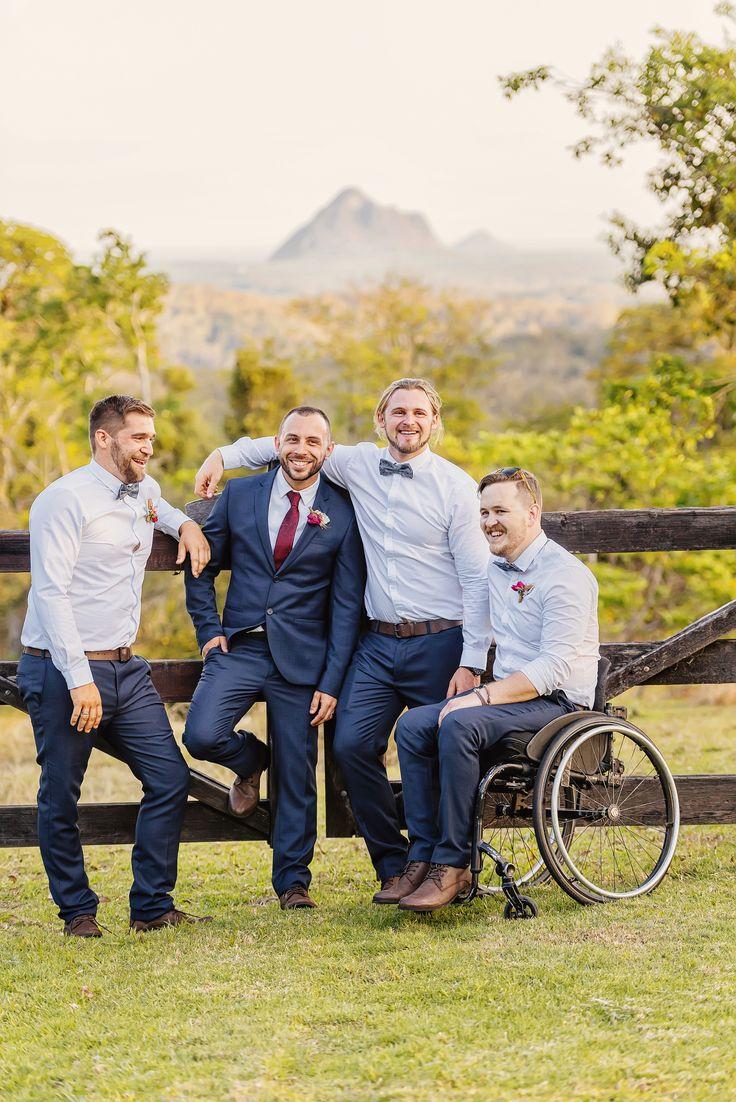 Groom + Groomsmen | Nat + Dizz's Maleny Wedding | Brisbane Wedding Photographer | Evernew Studio