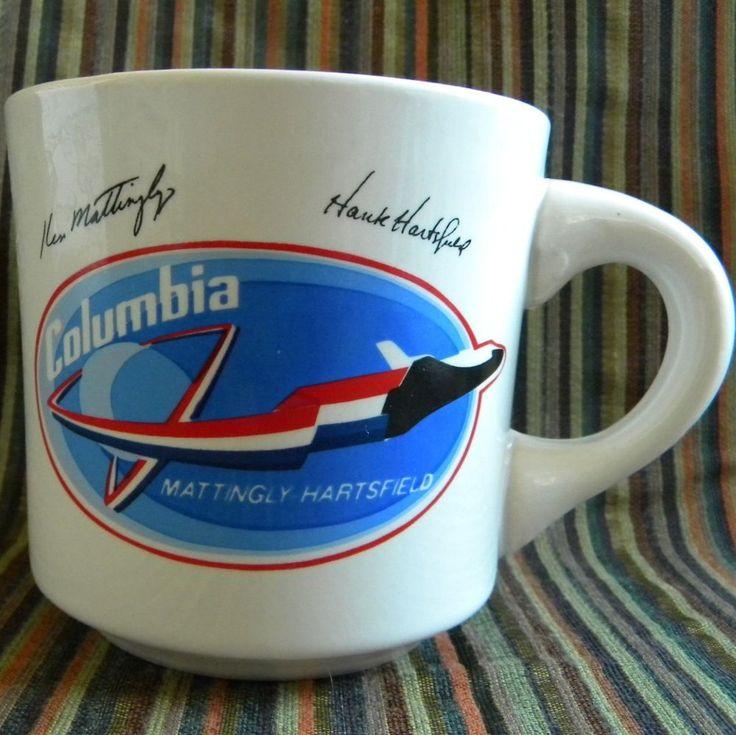 Columbia Space Shuttle Mug Ken Mattingly Hank Hartfield Made n USA