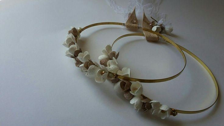 Wedding crowns - stefana gamou Love handmade