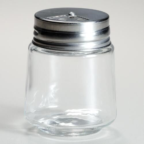 One of my favorite discoveries at WorldMarket.com: Cylinder Spice Jars with Metal Shaker Lids, 4-Pack